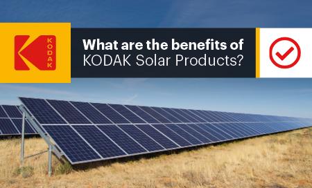Benefits of KODAK Solar